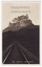 Banff Alberta-Castle Mountain Canadian Pacific Railway c1930s RPPC CPR p... - $6.39