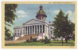 South Carolina State Capitol, Columbia SC c1940s linen postcard - Architecture - $2.67