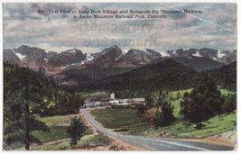 ESTES PARK VILLAGE VIEW FROM BIGH THOMPSON HIGHWAY ~ ROCKY MOUNTAINS CO ... - $2.71