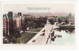 VICTORIA CANADA BIRDS EYE~EMPRESS HOTEL-PARLIAMENT-OLYMPIC FOUNTAINS~c19... - $7.31