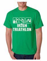 Men's  Tee Shirt Saint Patrick's Day Irish Triathlon Irish Shirt - $17.00