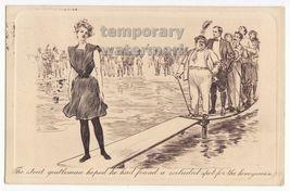 Beauty Woman & Gentlemen~Humor Comics Postcard~C1910 Uk Pictorial Comedy Series~ - $7.31