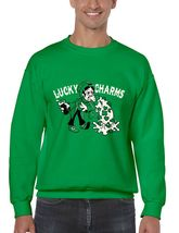 Men's  Crewneck Sweatshirt Saint Patrick's Day Lucky Charms Irish Shirt - $22.00