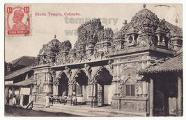 CEYLON SRI LANKA-COLOMBO-HINDU TEMPLE -SCULPTURE DECORATIONS- c1900s pos... - $7.31