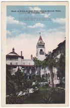 ST AUGUSTINE FL PONCE DE LEON HOTEL COURT~MOORISH TOWER~c1920s-30s postcard - $3.63