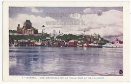 MONTREAL QUEBEC CANADA General View from St Laurent c1930s vintage old p... - $2.71