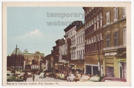 QUEBEC CITY CANADA Rue de La Fabrique -Street Scene -Cars-Stores c1940s ... - $2.62