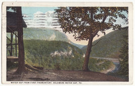 DELAWARE WATER GAP PA-Scenic View fm First Promontory-1927 Pennsylvania ... - $2.71