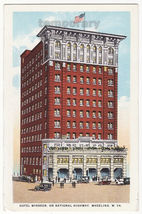 Wheeling WV Hotel Windsor on National Highway c1920s old West Virginia p... - $3.27