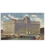 CHICAGO IL - MERCHANDISE MART BUILDING - 1950s old postcard (L8098) - $3.68