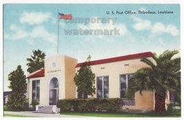 THIBODAUX LA Louisiana, U.S. Post Office Building c1950s vintage postcard - $9.15