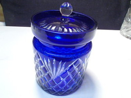 Cobalt Blue Biscuit / Cookie Barrel Jar with Lid~~~nice one - $59.95