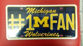 NCAA Michigan Wolverines Metal #1 Fan License Plate - $12.49