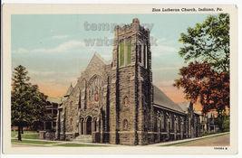 Zion Lutheran Church, Indiana PA - c1920s vintage Pennsylvania postcard - $9.14