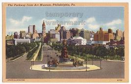 Philadelphia PA, The Parkway View fm Art Museum towards City Hall c1956 ... - $3.63