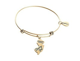 State of New Jersey Charm Bangle Bracelet (gold-plated-base) [Jewelry]