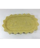 Bordallo Pinheiro Rabbit Bunny Yellow Oblong Sandwich Platter Portugal E... - $1.069,78 MXN