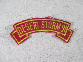 """Desert Storm 91 1991 Tab Ribbon Patch Red Gold Marines 3.5"""" Military - $6.72"""