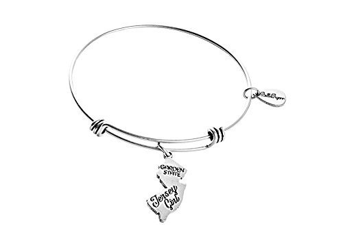 State of New Jersey Charm Bangle Bracelet (silver-plated-base) [Jewelry]