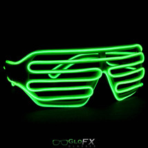 EL Wire wrap bright illuminated glowing kanye west shutter cross bar frame raver - $29.95