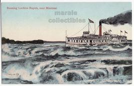 Montreal QC Canada Steamer Prescott Running Lachine Rapids c1910s postca... - $4.55