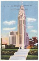 Columbus OH American Insurance Union Citadel c1940s-50s Ohio postcard L8278 - $3.22