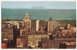 Chicago IL View from Board of Trade Observation Tower ca 1957 postcard L... - $4.14
