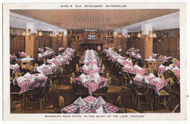 Chicago IL, Eitel's Old Heidelberg Rathskeller Restaurant  c1940s postca... - $4.55
