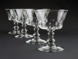 Fostoria Dolly Madison Cut Champagne Coupe Glass 4 pc Set, Vintage Tall ... - $19.60