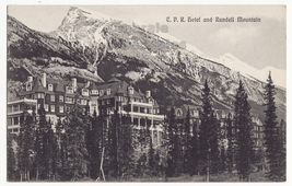 Banff Alberta Canada CPR Hotel and Rundell Mountain c1910s postcard M8319 - $3.22
