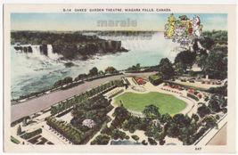 Oakes' Garden Theatre Niagara Falls Ontario c1930s advertising postcard ... - $2.71