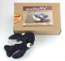 Woolbuddy Whale Wool Felting Needle Point Kit Crafting Gift - $19.99