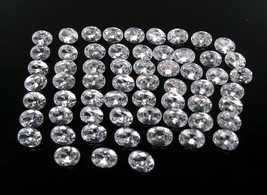 120.6Ct 61pc Wholesale Lot Clear White Cubic Zirconia Oval Faceted Gems - $22.99