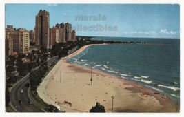 Chicago IL Birds Eye View of Gold Coast on Lake Michigan c1960s postcard... - $3.63