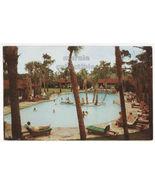 Myrtle Beach SC El Rancho Ocean Highway Motel Swimming Pool 1950s postca... - $3.63