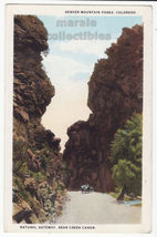 Natural Gateway Bear Creek Canon Denver Mountain Parks CO c1920s postcar... - $3.22