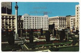 San Francisco California, Hotel Plaza, Union Square c1960s postcard M8432 - $2.71