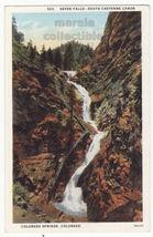 Seven Falls, South Cheyenne Canon, Colorado Spings CO c1920s postcard M8452 - $2.71