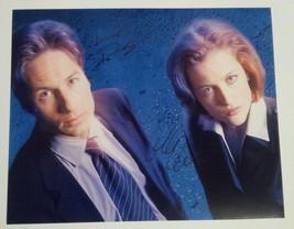 David Duchovny + Gillian Anderson Hand Signed 8x10 Photo COA X-Files - $79.99