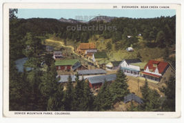 Evergreen, Bear Creek Canon Denver Mountain Parks Colorado c1920s postca... - $3.22