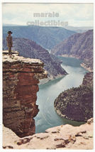 Red Canyon Overlook, Flaming Gorge Recreation Area Wyoming c1960s postca... - $3.22