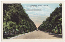 Phoenix Arizona Old Cars on Palm Drive - Scenic Road c1920s AZ postcard ... - $3.45