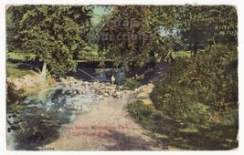 Cleveland OH, Rockfeller Park View, Doan Brook 1900s vintage postcard M8575 - $3.22