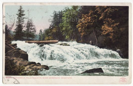 Adirondack Mountains NY Buttermilk Falls, Raquette River 1902 postcard M... - $3.22