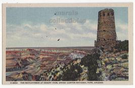 Watchtower Desert View, Grand Canyon Park AZ c1930s Fred Harvey postcard... - $3.63