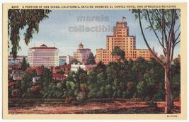 San Diego CA c1930s Partial Skyline, El Cortez,... - $3.63