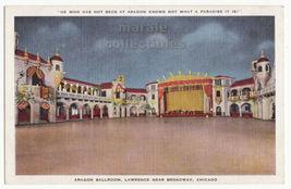 Chicago IL, Aragon Ballroom Near Broadway c1940s unused postcard M8483 - $3.22