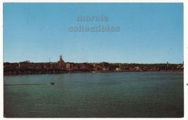 Davenport IA Skyline fm Centennial Bridge Rock Island IL c1960s postcard M8652 - $3.22