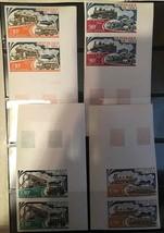 MALI 1974 VERTICAL MARGINAL IMPERF PAIRS TRAINS TRANSPORTATION LOCOMOTIV... - $45.54