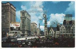 Detroit MI, Woodward Avenue fm Grand Circus Park c1960s old view postcar... - $3.63